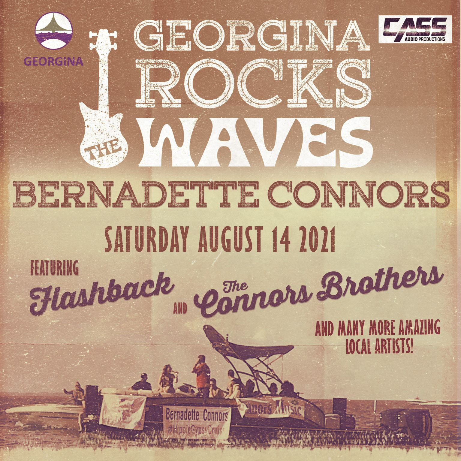 Georgina Rocks the Waves concert on Lake Simcoe in Keswick