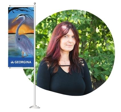 Georgina artist Annett Westlake - Banner Program artist