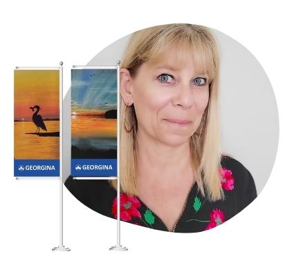 Georgina artist Judy Weiser - Banner Program artist