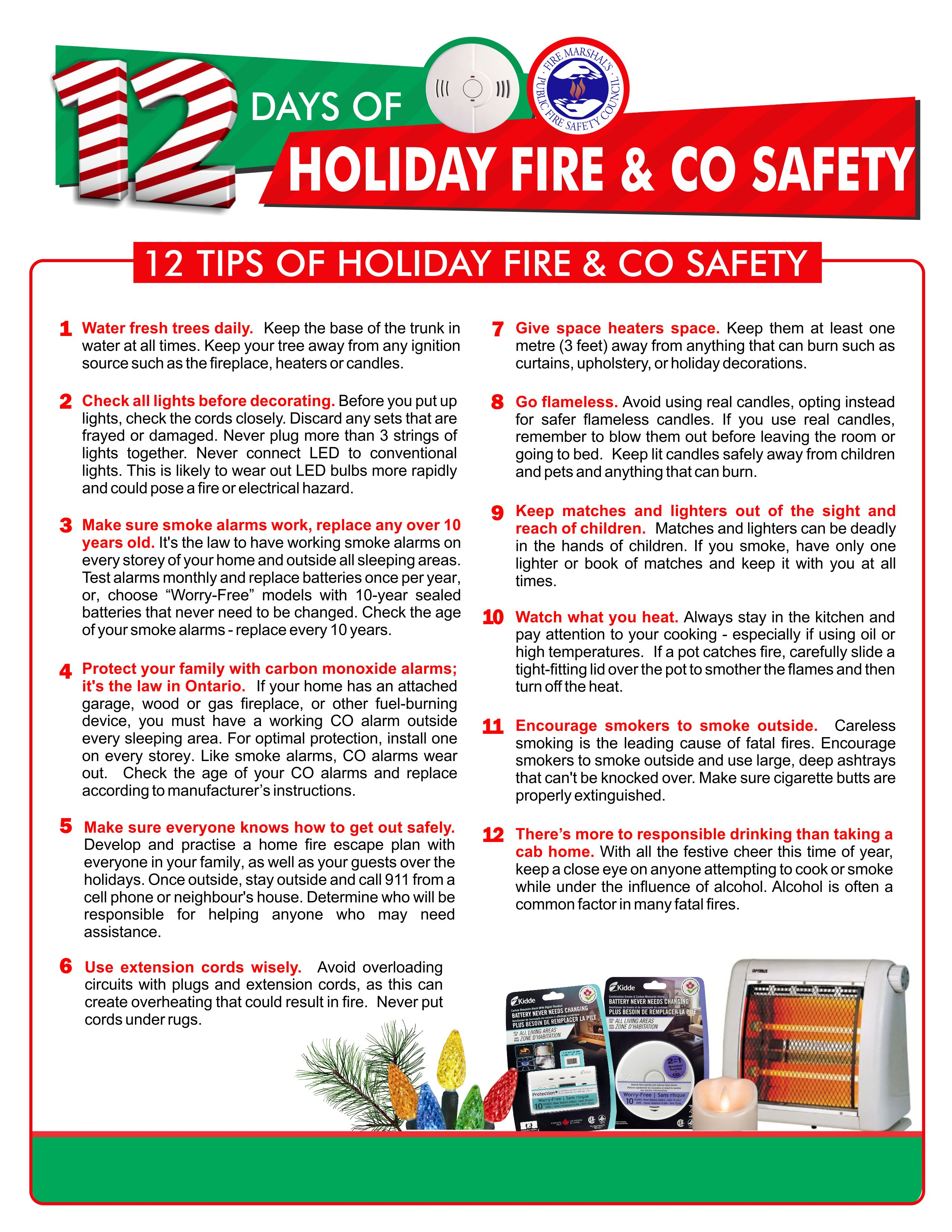 Georgina Fire & Rescue Services Holiday Safety Tips