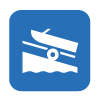 vector image icon of boat launch