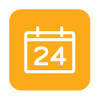vector image icon of calendar