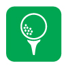 vector image icon of golf