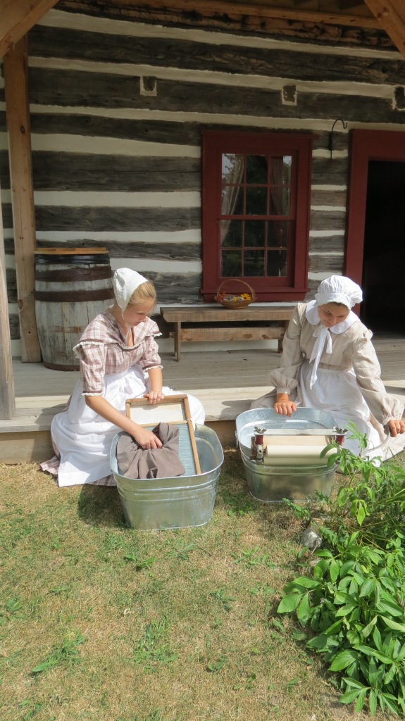 Old fashioned laundry at GPV summer camp