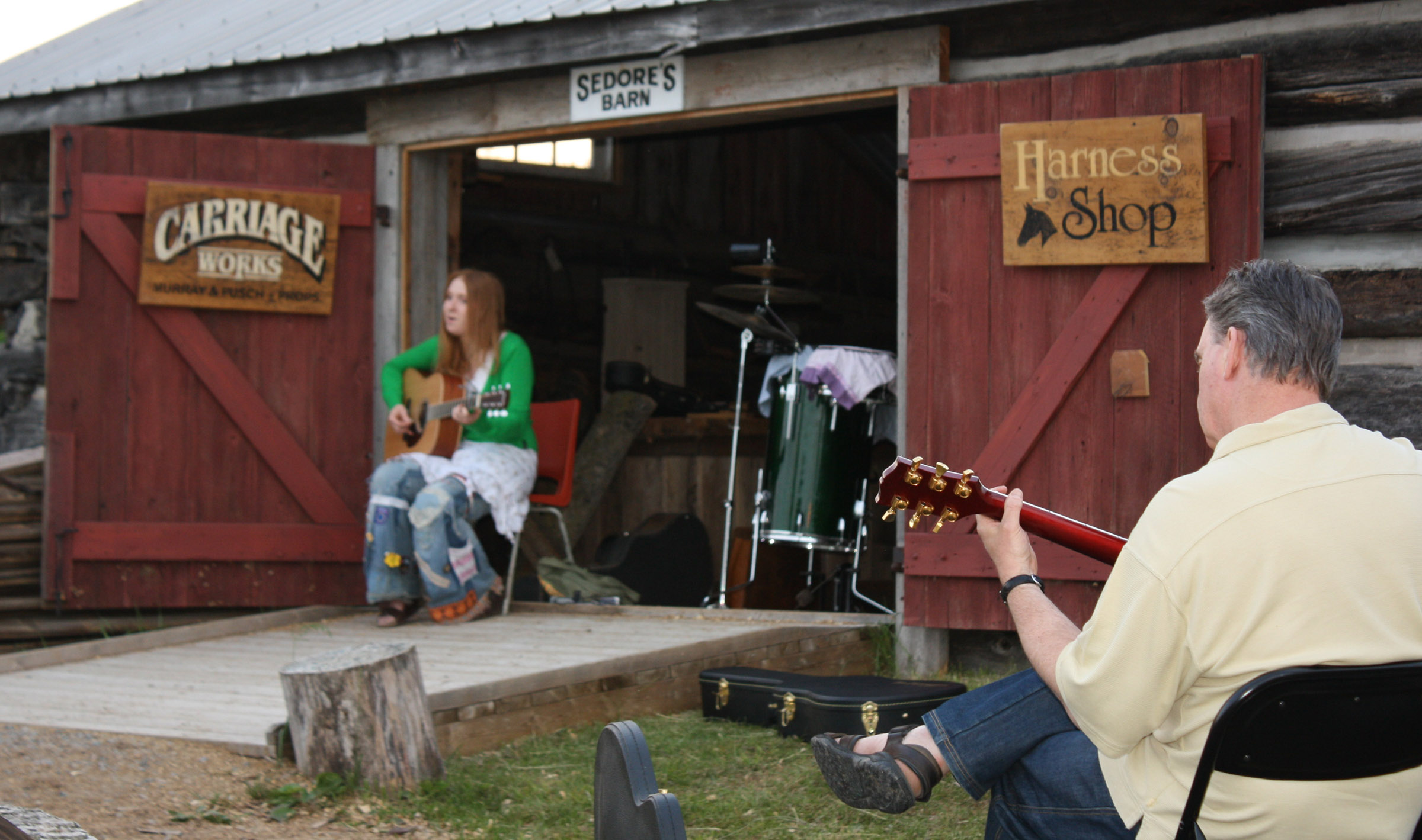 Image of musicians at Pioneer Village