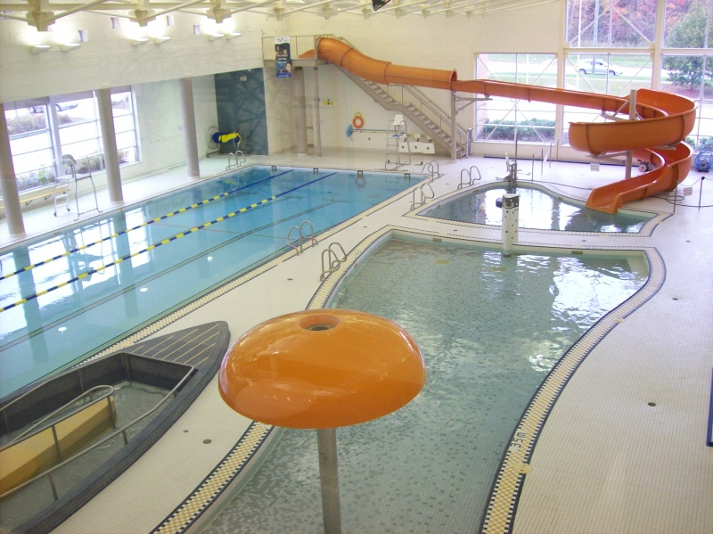 Interior view of Georgina Leisure Pools 3 swimming pools