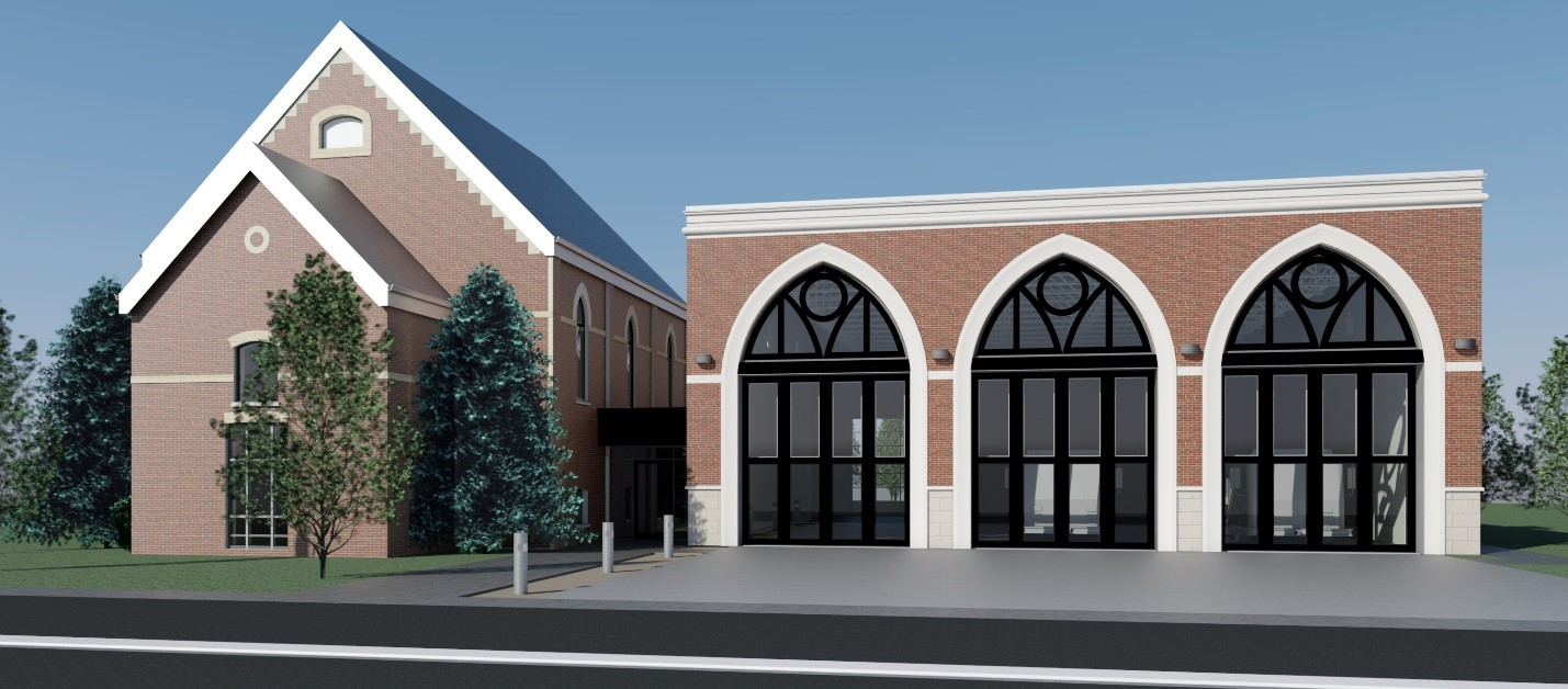 Pefferlaw fire hall rendering