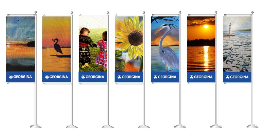 Georgina Street Banner Flags chosen artwork