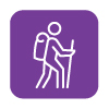 vector image icon of man walking