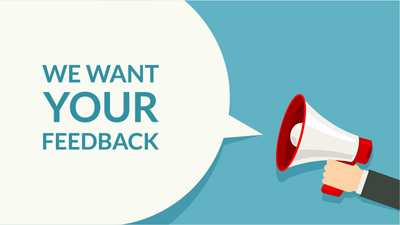 We want your feedback customer service survey